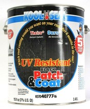 1 Can Kool Seal 115 Oz UV Resistant Black Patch & Coat Fibered Roof Repair  - $26.99