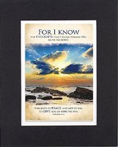 GoodOldSaying  Poem for Inspirations - For I know the thoughts that I think towa - $11.14