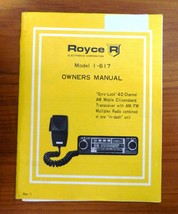 Royce Model 617 Owner's Manual 40 Channel CB Citizen's Band - $7.66