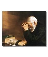 Praying Hands man praying Saying Grace Christian Art Eric Enstrom 8 x 10... - $7.50