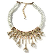 "Heidi Daus Masterful Combination Simulated Pearl Necklace 17"" - $249.95"