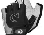 MOke Bike Motorcycle Anti-Slip Half-Finger Gloves - Black + Grey (M)
