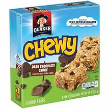 Quaker Chewy Granola Bars 90 Calories Low Fat Chocolate Chunk, 8 ct, .84... - $9.99