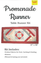 "Quilt Kit - Promenade Runner 18"" x 36"" Quilt as You Go Table Runner Kit ... - $37.97"