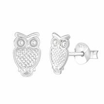 925 Sterling Silver - Owl Stud Earrings for Women Men & Children in Gift Box - $5.60