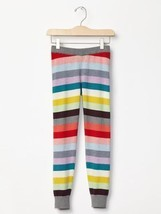 Gap Kids Girls Sweater Leggings M 8 Multi-color Striped Ribbed Cotton Bl... - $19.99