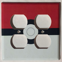 Pokemon Red Pokeball ball Light Switch Power Outlet Wall Cover Plate Home decor image 6