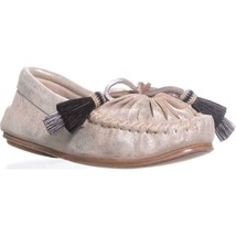 Loeffler Randall Lois Tassle Boat Shoes, Silver/Black Natural, 7.5 US - $145.91