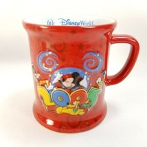 Walt Disney World 2005 Mickey Where The Party Never Ends Coffee Cup Mug Red - $22.95