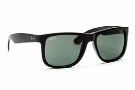 Ray Ban Justin Men's Sunglasses RB4165 601/71 Black/Green Lenses Sunglasses - $96.03