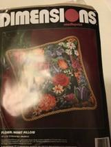 "NEW DimensionFloral Heart Pillow Flowers Needlepoint Kit 14x14"" Hallmark... - $44.40"