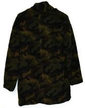 Stoosh Women's Ashley Oversized Green Camouflage Camo Fleece Jacket Size M image 2