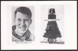 Walter Schirra Jr. & Sigma 7 Mercury Project Spacecraft Photo Postcard &... - $12.75