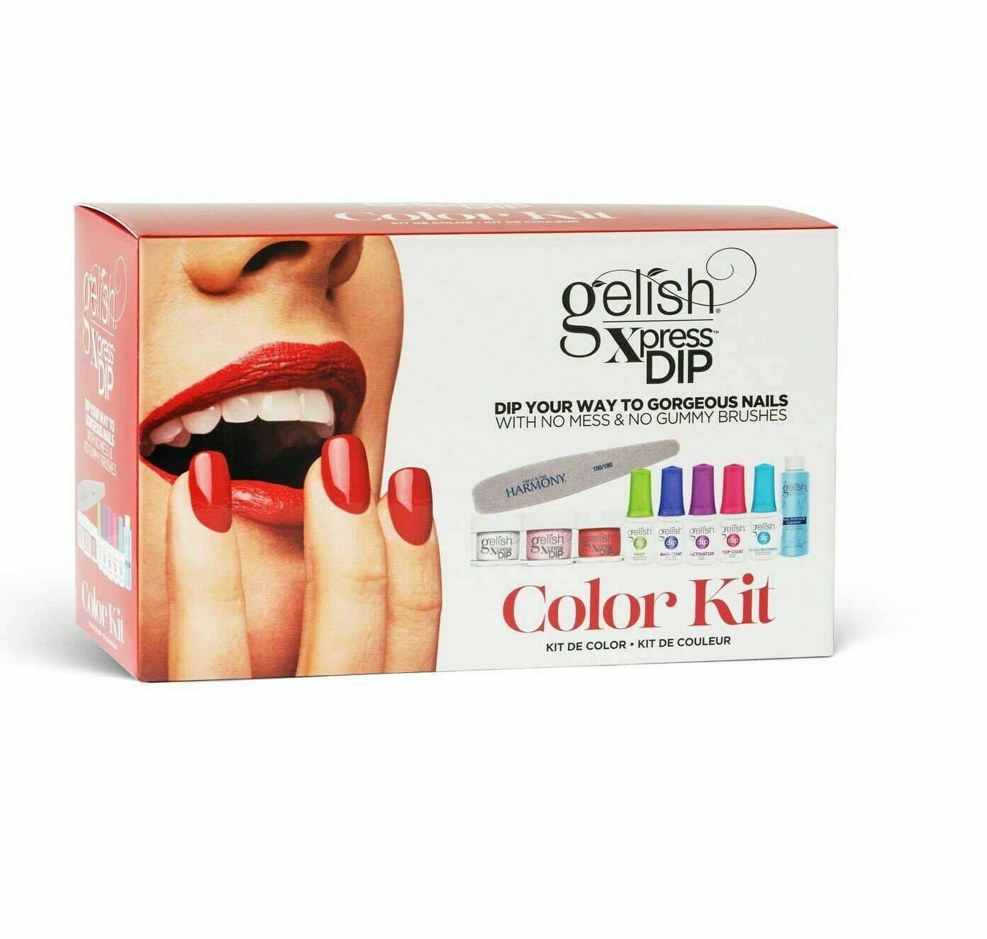 Primary image for Harmony Gelish XPRESS DIP - COLOR KIT - With Double Size of Dipping Powder.