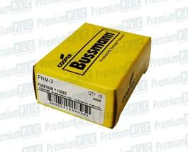 BOX OF 10 COOPER BUSSMANN FNM-3 FUSETRON FUSES CLASS MIDGET 3 AMP 250V TRM3 NIB image 1