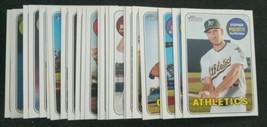 2018 Topps Heritage High Number 25 Card Short Print SP Complete set 701-725 - $12.19