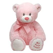 "Pyoopeo Original Ty Pluffies 15"" 38cm Sweet Baby Pink Bear Plush Medium ... - $30.40"