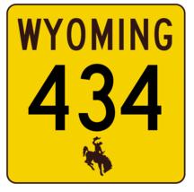 Wyoming Highway 434 Sticker R3543 Highway Sign - $1.45+