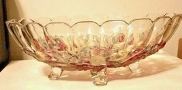 Indiana Carnival Glass Clear Iridescent Colored Large Oval Footed Fruit ... - $34.54