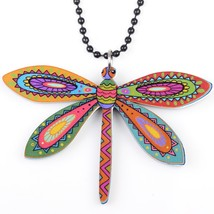dragonfly necklace pendant acrylic  2015 news accessories spring summer cute des - $13.24