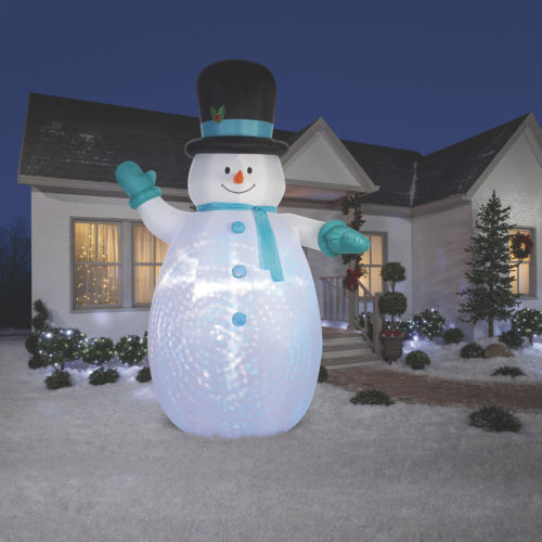 Christmas 12FT Airblown Inflatable Jolly Snowman Yard Decoration Outdoors Lights