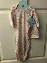 Aden + Anais 0-3m Girl's Comfort Knit Gown & Hat *NEW* bb1 - $15.99