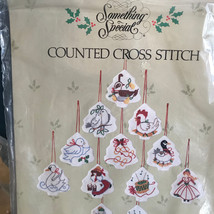 Something Special Counted Cross Stitch Kits 2 Santa Ornaments 12 days Christmas - $18.99