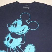 Disney Mickey Mouse Navy Blue Graphic T Shirt Mens Extra Large XL Short ... - $14.84