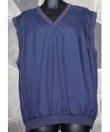 SLAZENGER Men's Large Navy Blue Activewear Golf Warmup Lined Vest Lightw... - $19.34