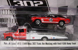ACME 1969 Ford Boss Mustang Trans Am  w/ 350 Hauler  Parnelli Jones   1:... - $23.50