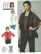 Vogue 1243 Today's Fit Sandra Betzina Jacket Cover Up Pattern One Size U... - $14.69