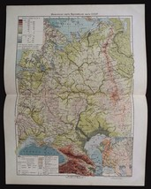 1930 MAP of RUSSIA Europe Part Physical by GGU VSNH USSR Soviet Rare - $8.11