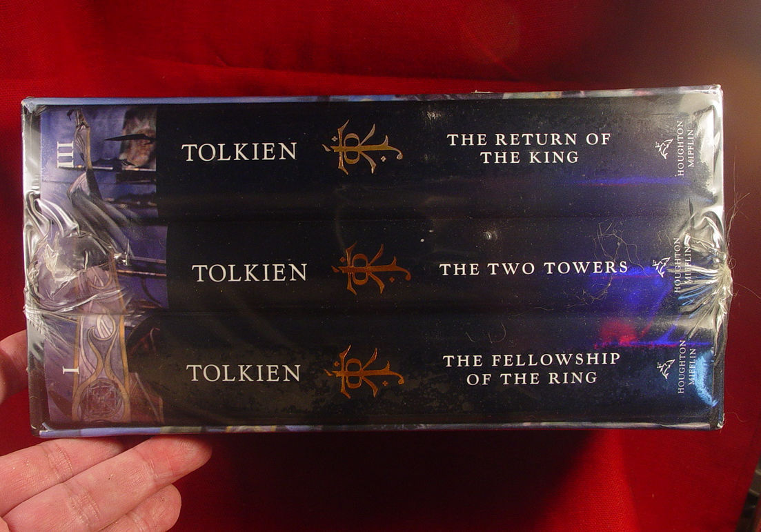Lord of the Rings Tolkien 3 Volumes Boxed Set Slipcase SEALED