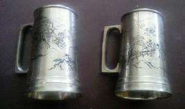 Set of 2 CPO Central Purchasing Office Occupied Japan Silverplated Mugs - $61.14