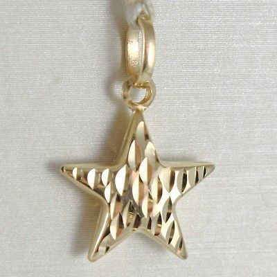 YELLOW GOLD PENDANT 750 18K, STELLA ROUNDED, PENDANT, LENGTH 2.1 CM