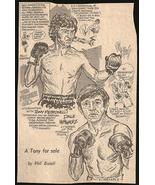 Petronelli Hernandez Boxing Sports Cartoon Bissell Sketch Newspaper Clip... - $14.99