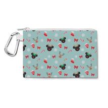Christmas Mickey & Minnie Reindeers Disney Inspired Canvas Zip Pouch - $15.99+