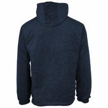 Men's Water Resistant Polar Fleece Lined Hooded Windbreaker Rain Jacket image 9