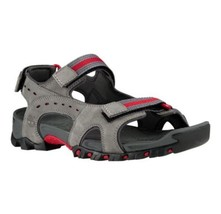 Timberland Men's Wakeby Premium Leather Gray Strap Sandal Style A14NN Sz 12M - $46.79