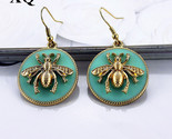 015 european and american fashion jewelry and gold earrings female bee light green thumb155 crop