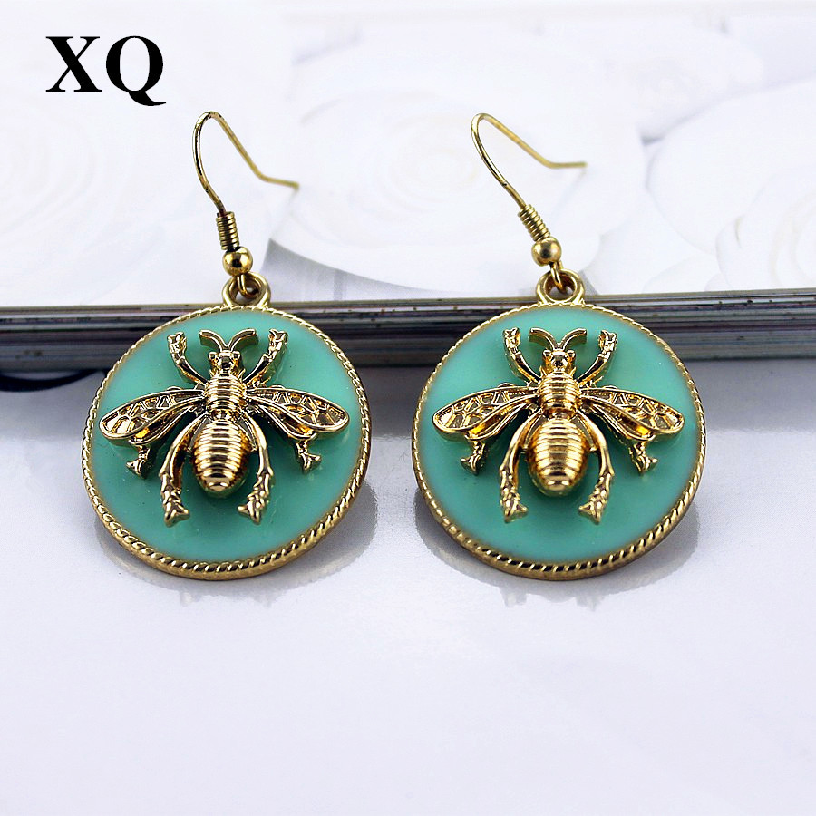 XQ Free shipping 2015 European and American fashion jewelry and gold earrings fe
