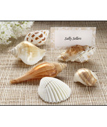 150 Shells By the Sea Authentic Seashell Beach Wedding Place Card Photo ... - €105,81 EUR