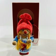 Steinbach Gretel Wooden Christmas Ornament Marienberg Handmade Pure Germany - $38.60