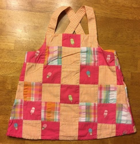 Primary image for NWT Gymboree Girl's Multi Color Plaid Ice Cream Popsicle Cross Tank Top Size: 6