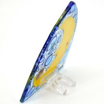 Fused Art Glass Hedgehog Sleeping on Moon Design Night Light Handmade in Ecuador image 3