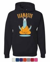 Llamaste Hoodie Funny Yoga Namaste Llama Peace Pilates Lotus Om Sweatshirt - $24.99+