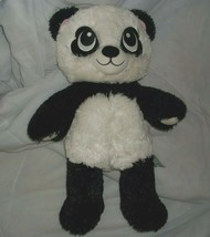 "18"" BUILD A BEAR HARAJUKU HUGS PANDA TEDDY HEART EYES STUFFED ANIMAL PLU... - $14.00"