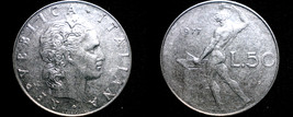 1977 Italian 50 Lire World Coin - Italy - $2.49