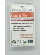 Organic Cold & Flu Maximum Strength 10 ml Forces of Nature Homeopathic E... - $9.99
