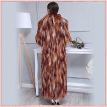 Long Shaggy Mongolian Tibetan Lambs Warm Curley Long Hair Faux Fur Over Coat image 3